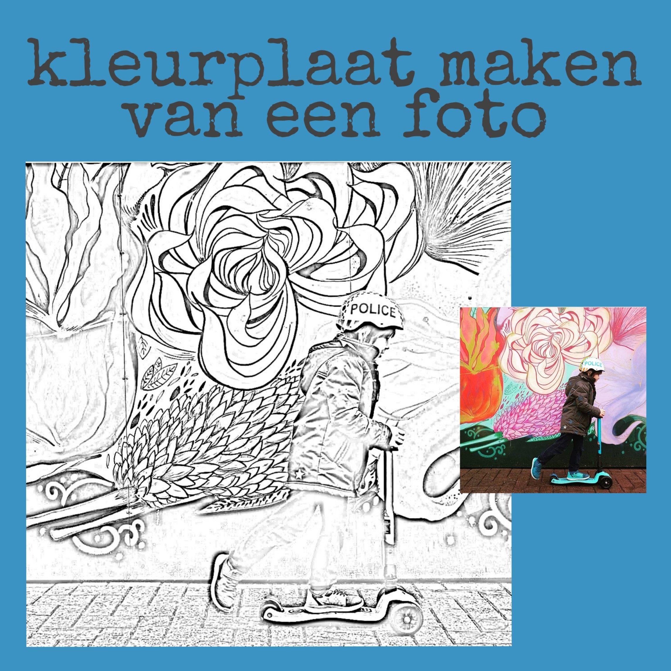 Een Kleurplaat Maken Van Een Foto Leuk Met Kids Kleurplaten Kleurplaten Voor Kinderen Mandala Kleurplaten