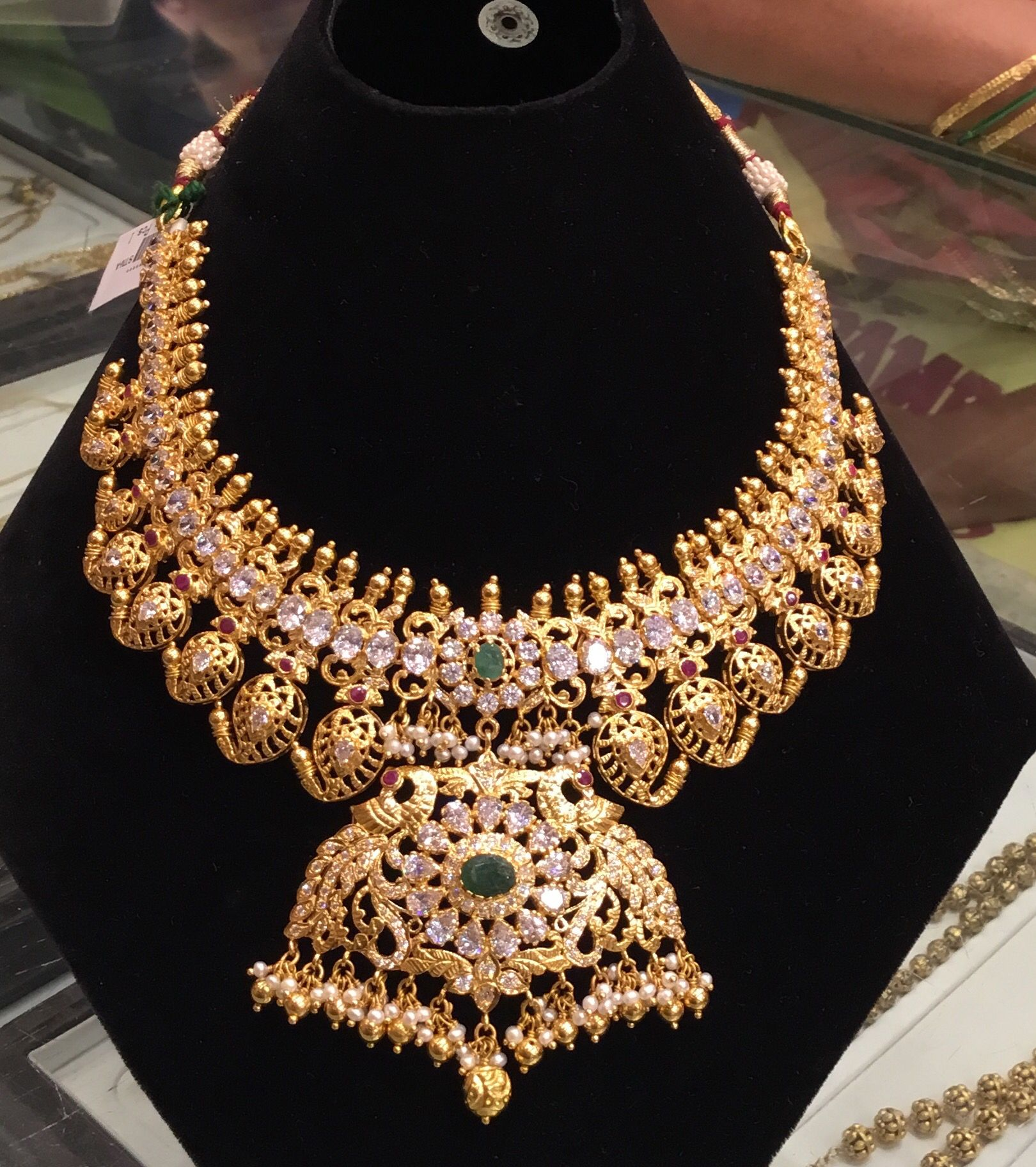 Latest gold necklace designs in grams pachi necklace latest jewellery - 57 Grams Heavy Pachi Choker Jewellery Designs See More 68 Gms Necklace
