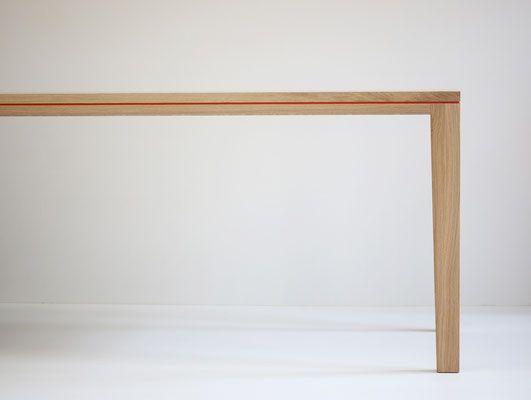 Esstisch Berlin tisch esstisch schreibtisch r10 linoleum eiche massivholz weiß geölt