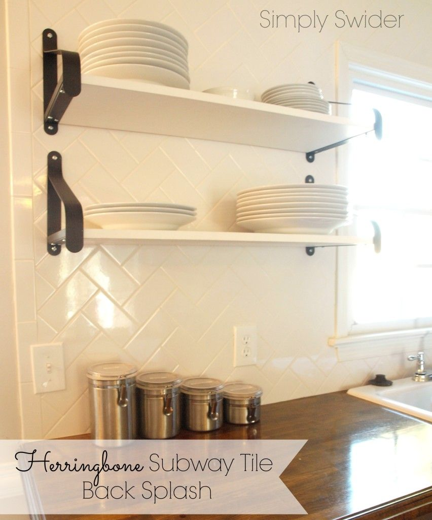 Subway Tile Back Splash in a Herringbone Pattern- Classic and ...