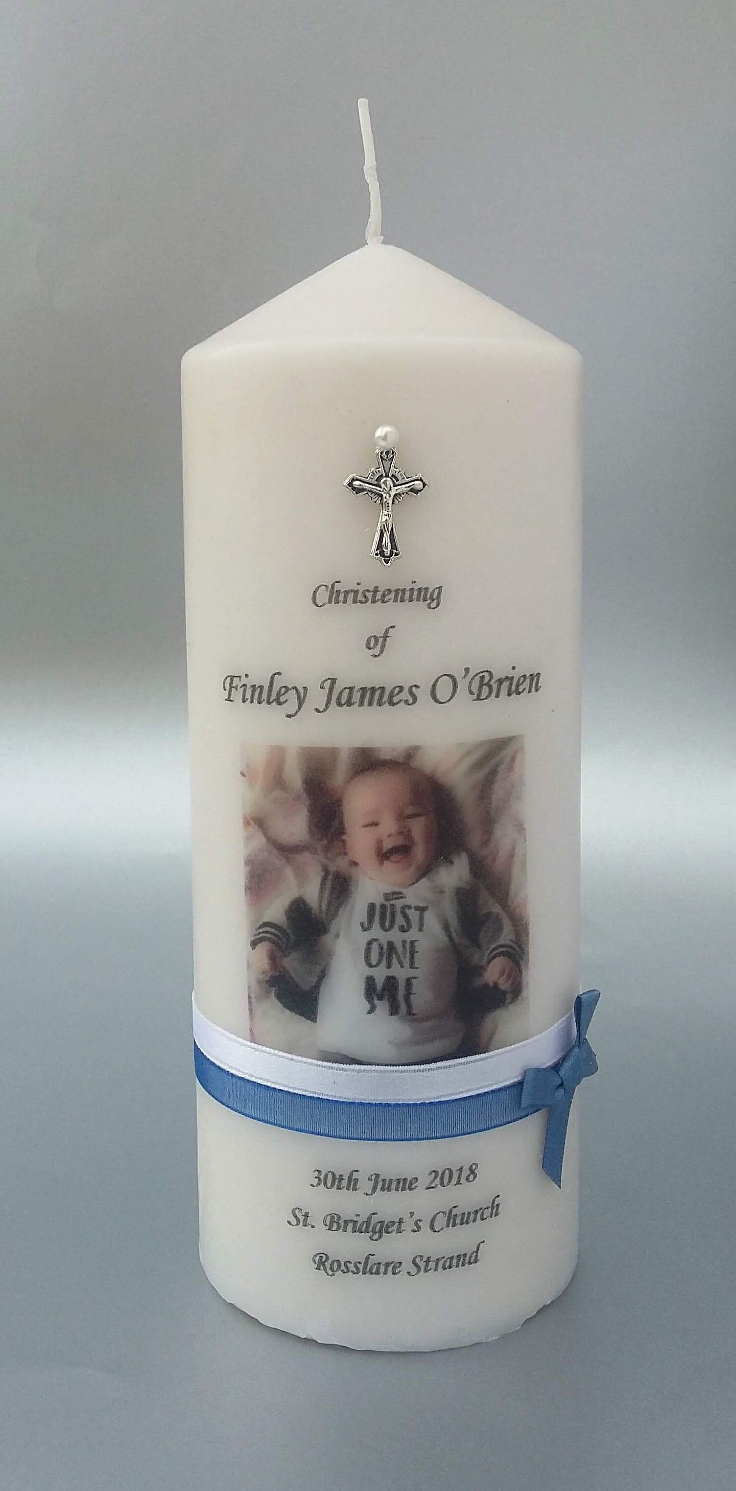 Bab... My Special Day with Roses and Candle personalised Christening Baptism