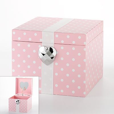 Kohls Jewelry Box Prepossessing Polka Dot Heart Musical Jewelry Box From Kohls  Christmas 2011 Design Ideas