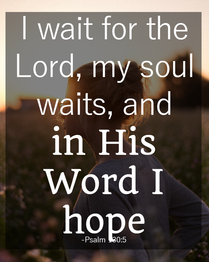 Bible Quotes 31 Days Of Bible Quotes About Patience Psalm 1305  Psalm 130