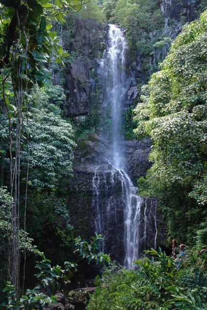 Wailea Falls, Wailea River State Park, Hawaii.  Photo: Roy Okano