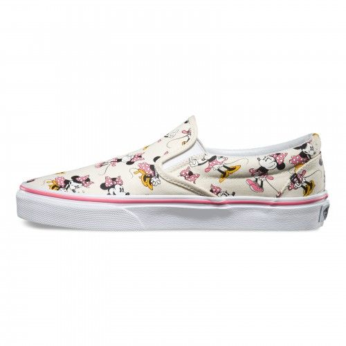 Vans Disney Classic Slip-On Shoes (Disney) Minnie Mouse Classic White 6d3761283