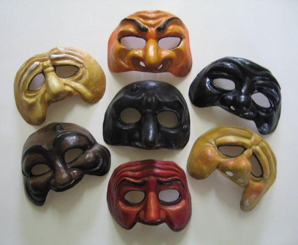 Commedia Dell'Arte Masks portraying many emotions. These masks tell a lot about…
