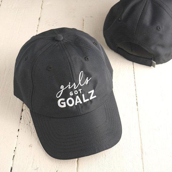 d390405dc7d69 Black Workout Hat | Womens Running Hat, Girls Got Goalz ...
