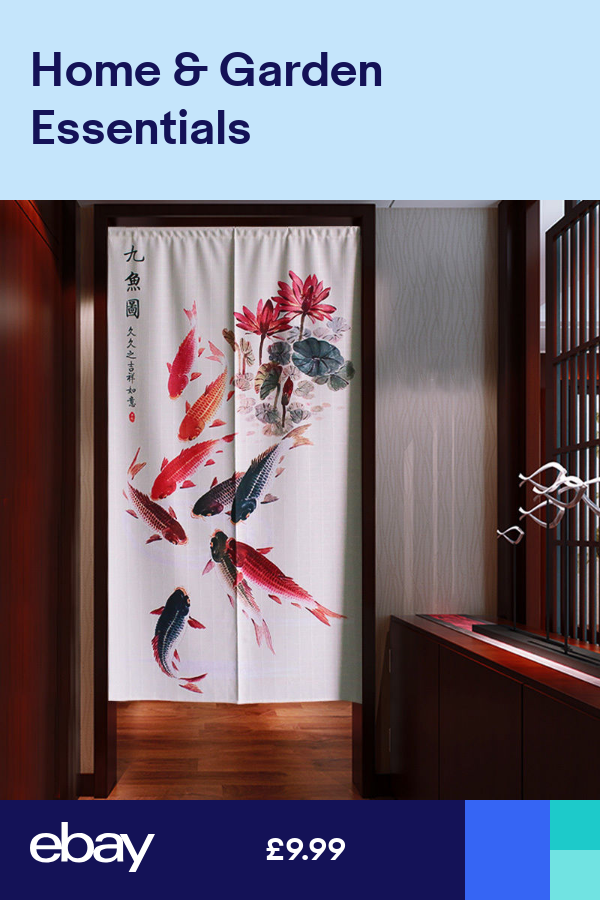 Japanese Noren Door Curtain Tapestry Chinese Feng Shui Fish