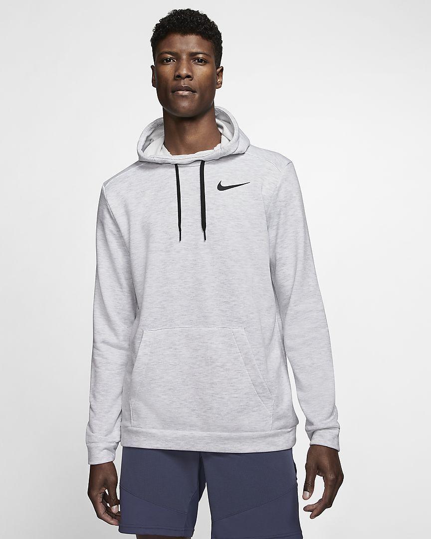 Nike Dri Fit Men S Pullover Training Hoodie Grey Pullover Men Hoodies Nike Dri Fit [ 1080 x 864 Pixel ]