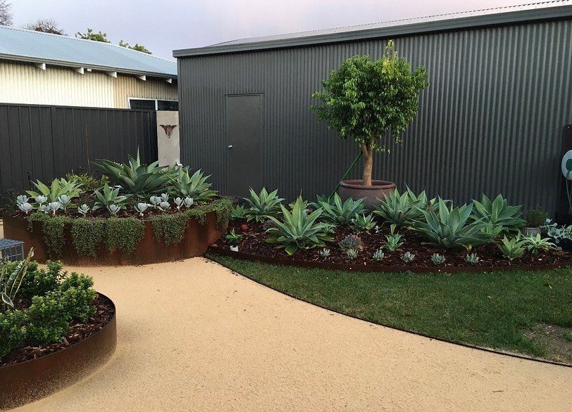Formboss Perth Wa Green Earth On Instagram Pretty As A Picture We Fabricated These Gorgeous Planters Using Our Redcor For In 2020 Backyard Planters Veggie Garden