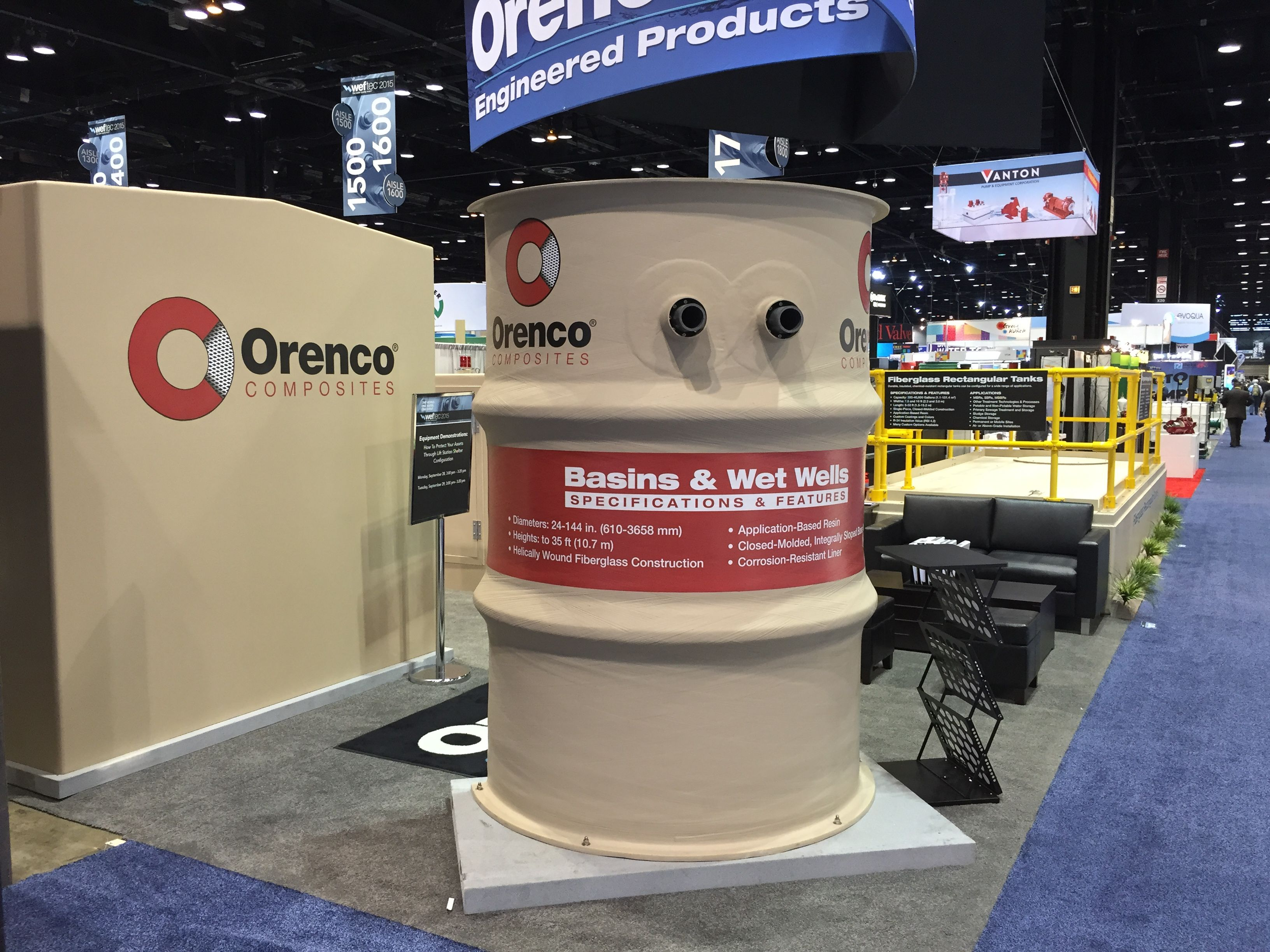 Weftec 2015 Orenco Composites Takes Pride In Producing High Quality Helically Wound Fiberglass Basins An Array Of Optio Technology Solutions Canning Trading