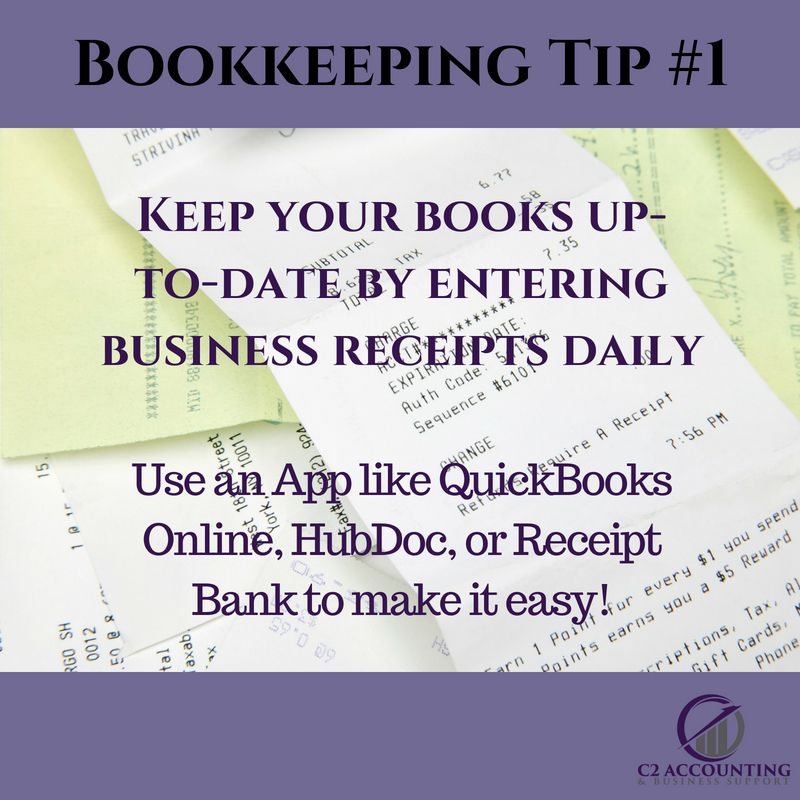 C2 Accounting Bookkeeping Tip 1 Keep your books upto