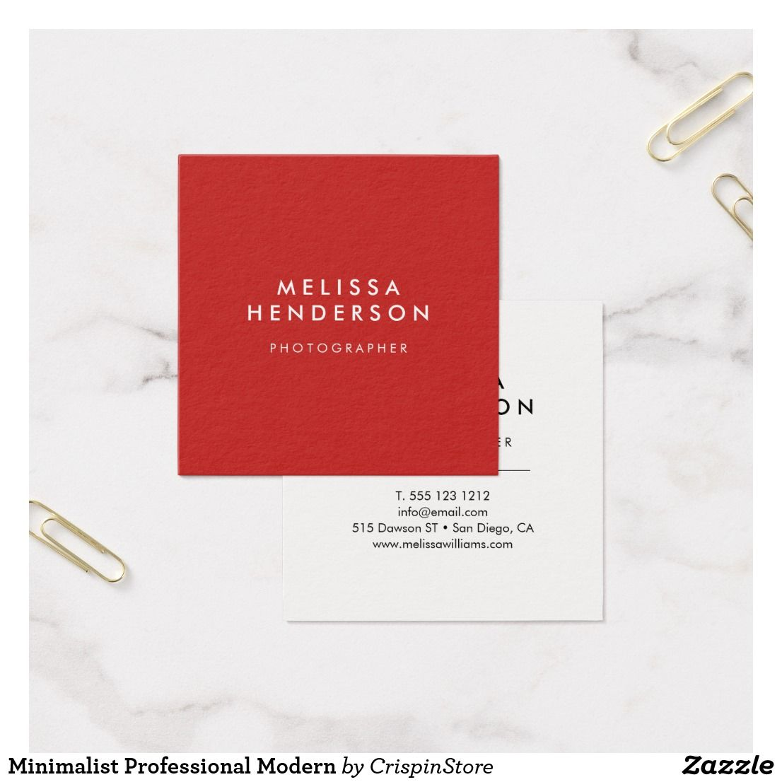 Minimalist Professional Modern Square Business Card Business Cards