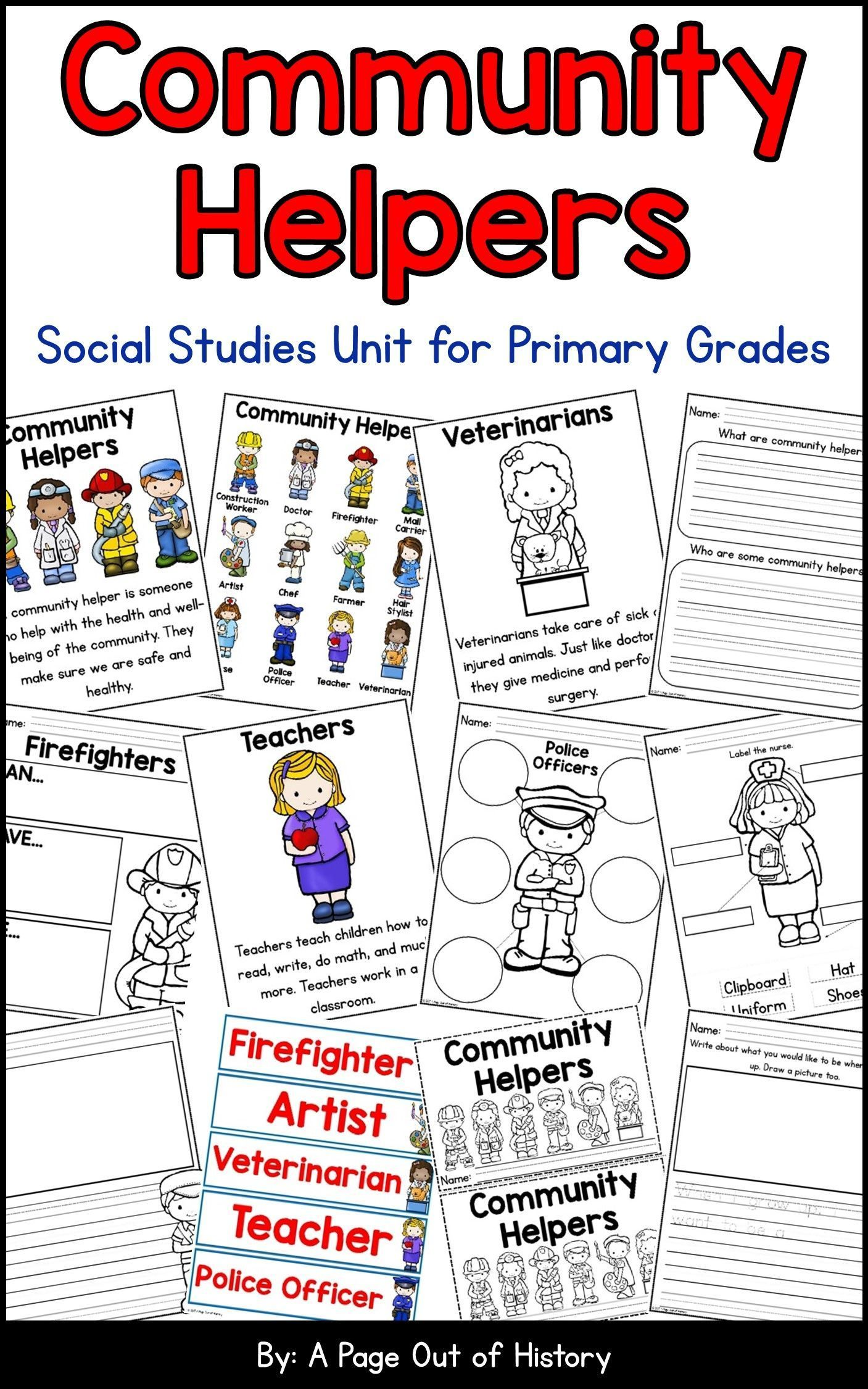Community Helpers Social Studies Unit | Distance Learning