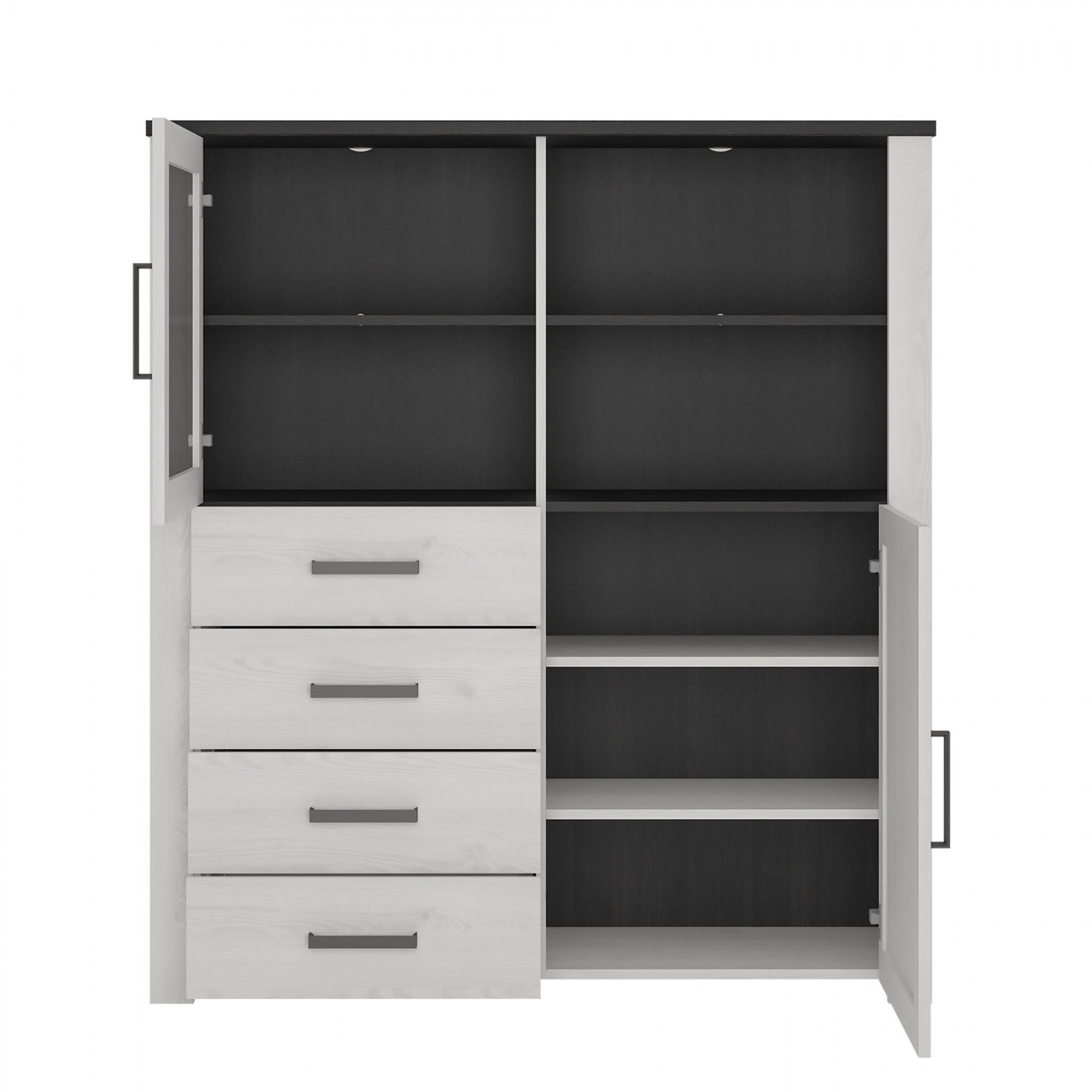 Provence Display Cabinet 2 Door 4 Drawer Provence By Collection