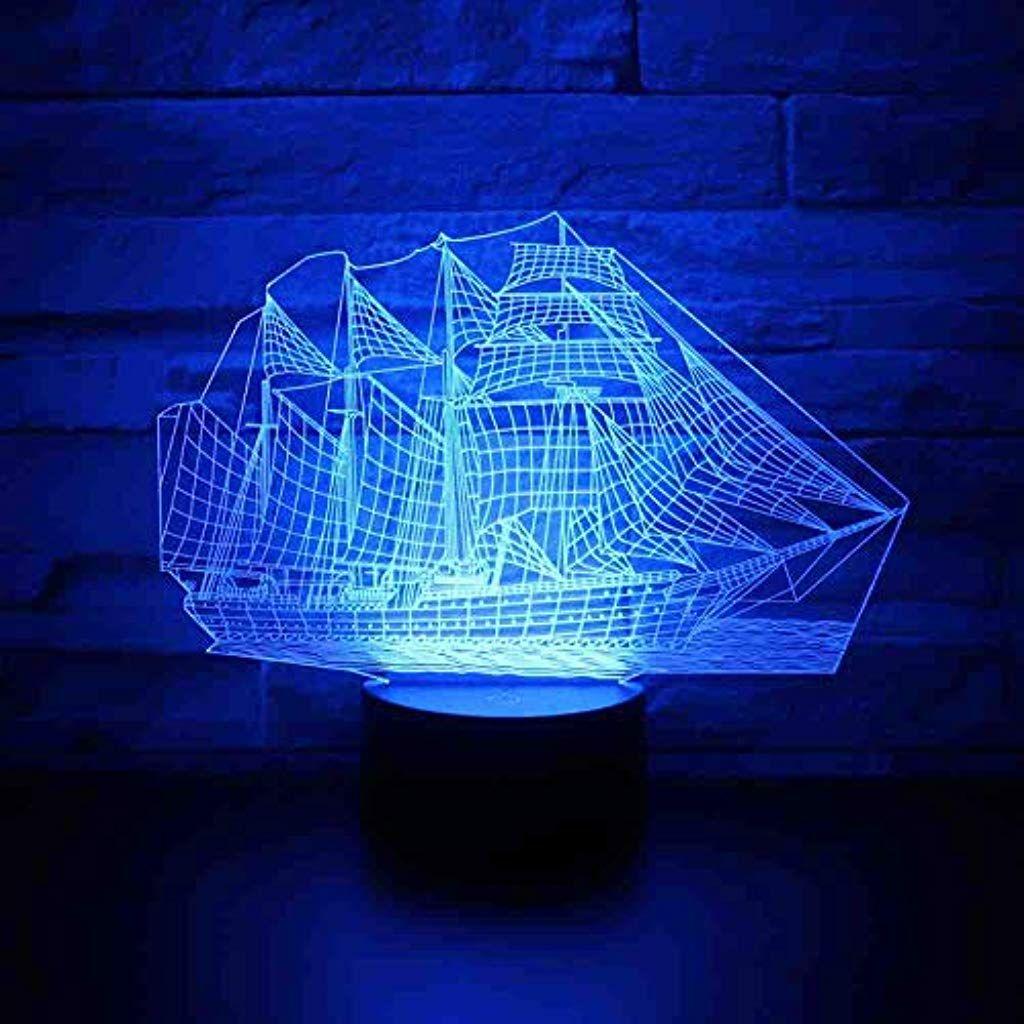 Bddllm 3d Led Nachtlicht Schiff Segelboot Mit 7 Farben Licht Fur Hauptdekoration Lampe Erstaunliche Visualisierung Opti Nachtlicht Beleuchtung Innenbeleuchtung