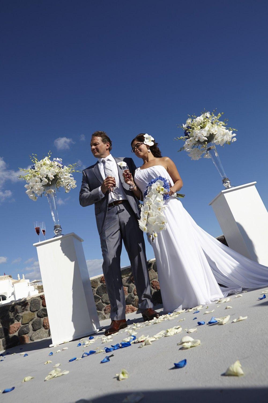 Civil wedding cliff oia santorini private villa wedding ceremonies