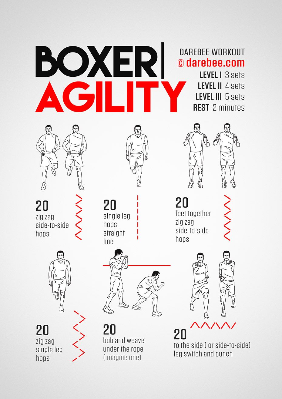 Boxer Agility Workout Concentration Lower Body | Boxing