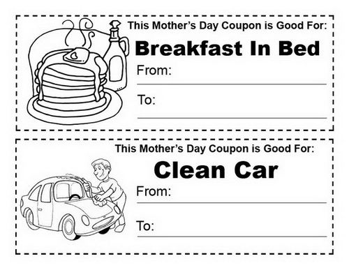 car wash coupon template - easy printable mothers day cards ideas for kids school
