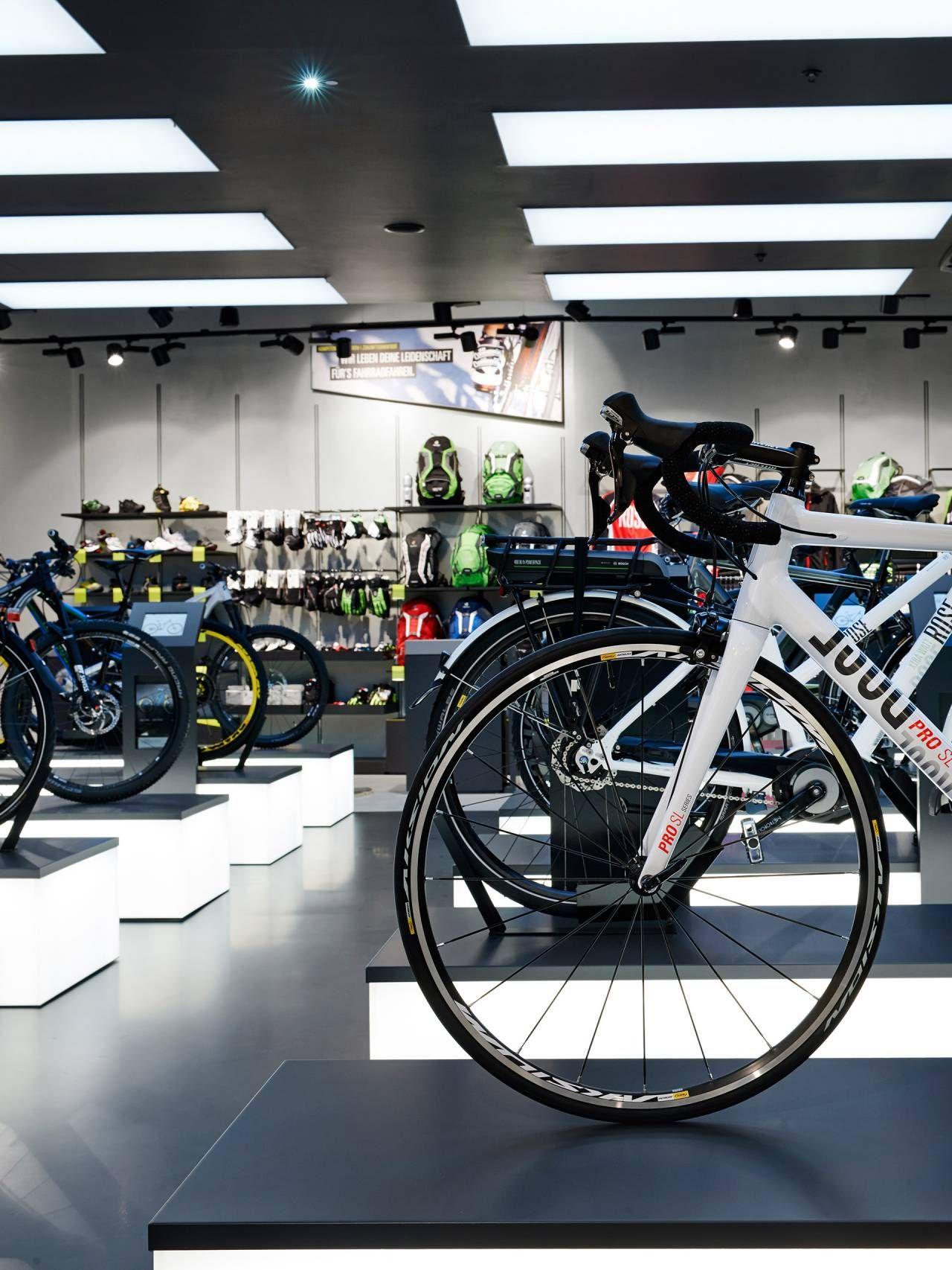 fe62b7f105f New conception Rose Biketown Munich | architect blocher partners Bike  Experience, Showcase Design, Shop