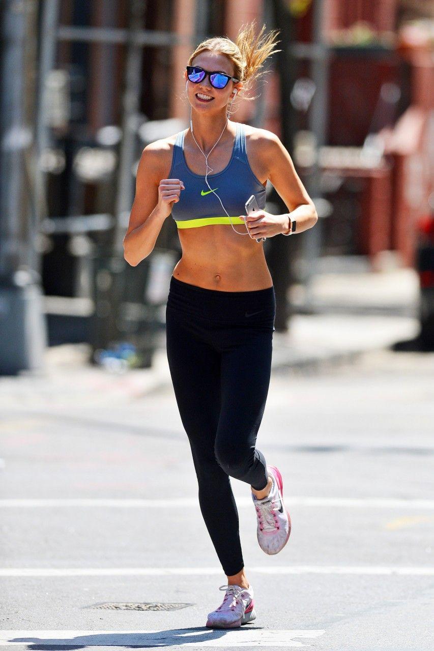 3351a3aca553 Karlie Kloss wearing Nike Lunarglide 6 Running Shoes
