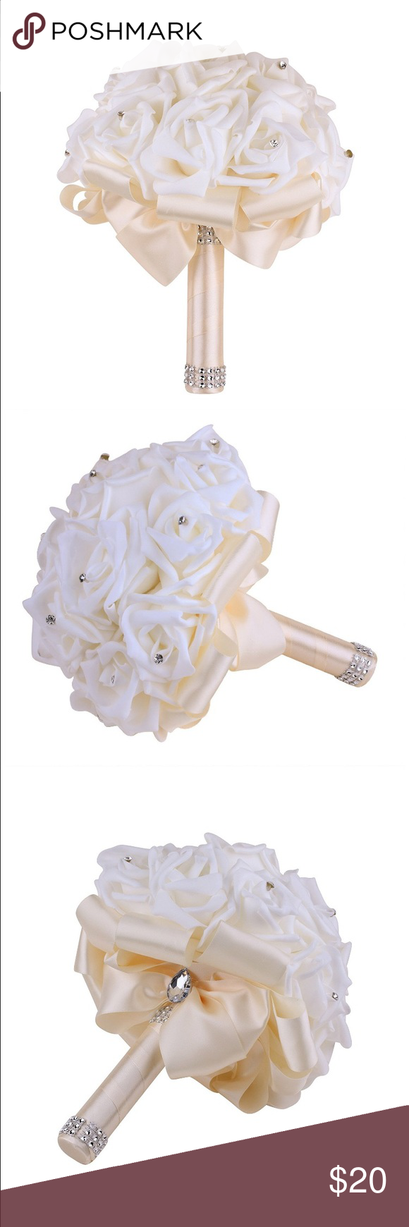 Bridal bouquet Ivory color. Faux flowers. Very elegant! Other