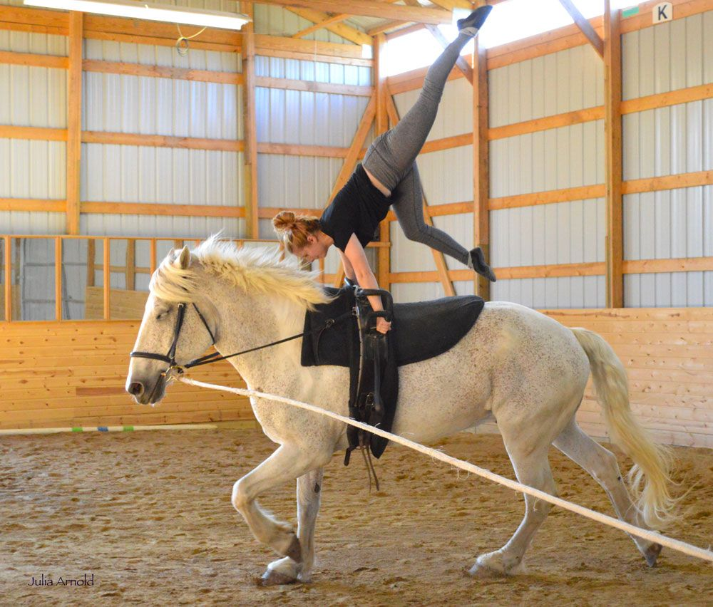 What is Equestrian Vaulting? This combination of equestrian and gymnastics is a captivating sport and an excellent form of cross training for riders.