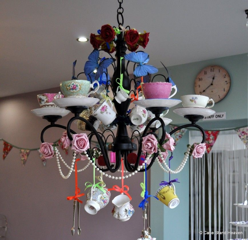 Teacup Chandelier By Cake Stand Heaven