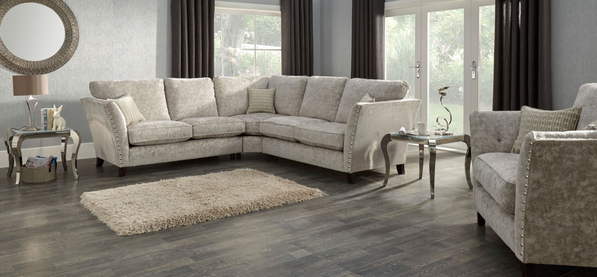 Rihanna 2 Corner 2 Standard Back Fabric Sofa Scs Buy Sofa Online Carpets For Kids Living Spaces