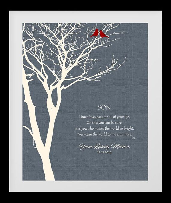 Gift to Son from Mother Wedding Gift from Parents by MomSublime ...