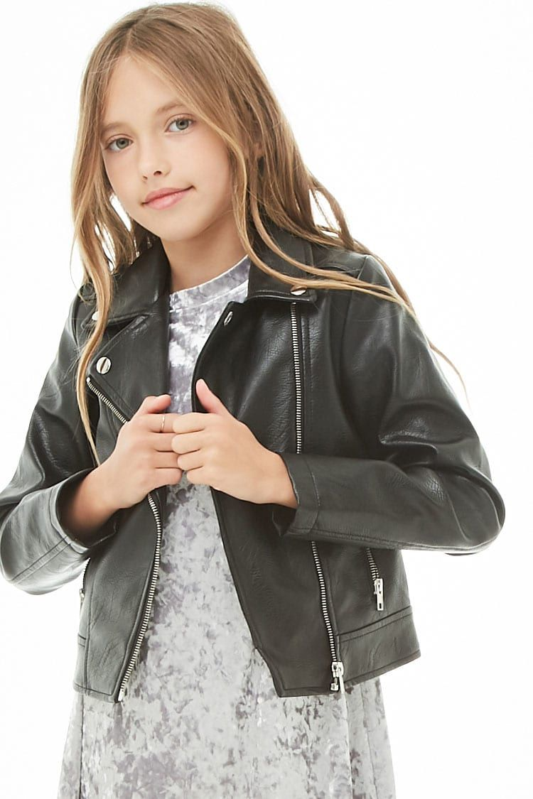 Girls Faux Leather Moto Jacket Kids Kids Leather Jackets Leather Jacket Girl Kids Jacket [ 1125 x 750 Pixel ]