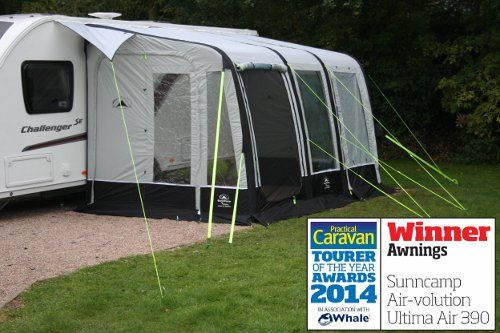Sunncamp Ultima Air 390 Caravan Awning 2015 With Images Caravan Awnings Caravan Tent Trailer