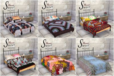 Bohemian Sims 4 Bedding Quilts Amp Pillows By Granny Zaza