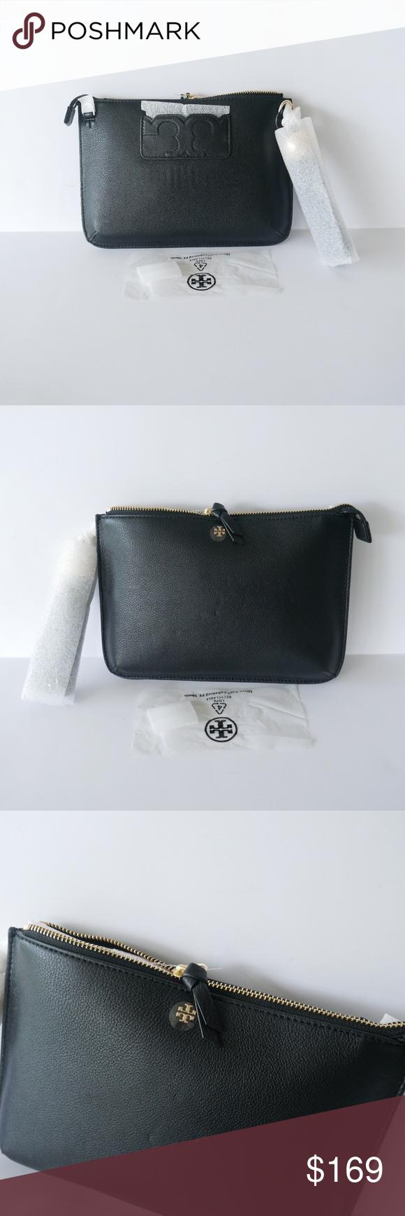 Tory Burch Tassel Crossbody Clutch Pb Leather Bag New With Tags NEW Tory  Burch Pebbled Leather a494e292ca