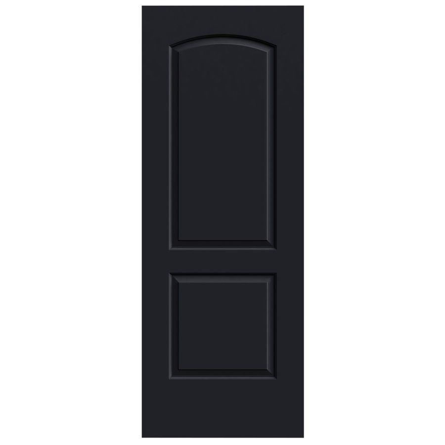 Jeld Wen Midnight Solid Core 2 Panel Round Top Slab Interior Door