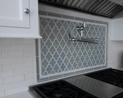 Backsplash Elements Of Style Project Morroccan Window Tile In Grey Blue 1 Kitchen Tiles Trendy Kitchen Backsplash Lantern Tile Backsplash