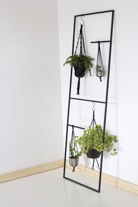 Black Metal Leaning Plant Kitchenware Towel Display Ladder Interior Design Plants Minimalist Decor Minimalist Bedroom