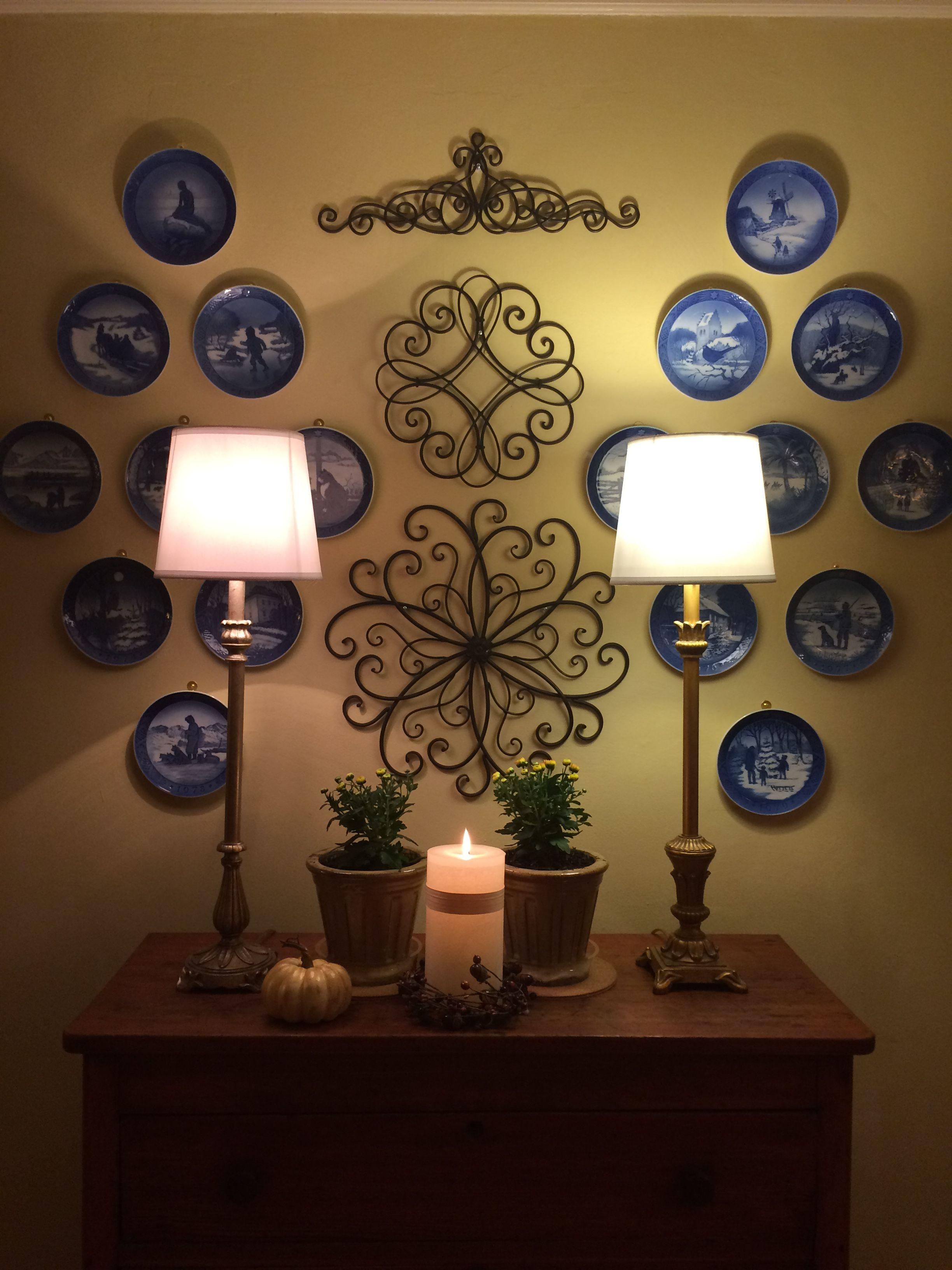 Royal Copenhagen Christmas Plates Displayed Design Ideas