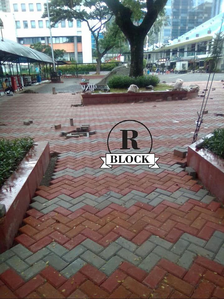 Pemasangan Paving Block Model Bata  Desain, Bata