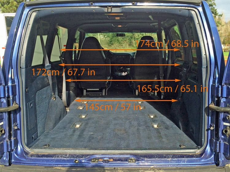 gmc safari astro van interior measurements for minivan camper conversion morehawes vans. Black Bedroom Furniture Sets. Home Design Ideas