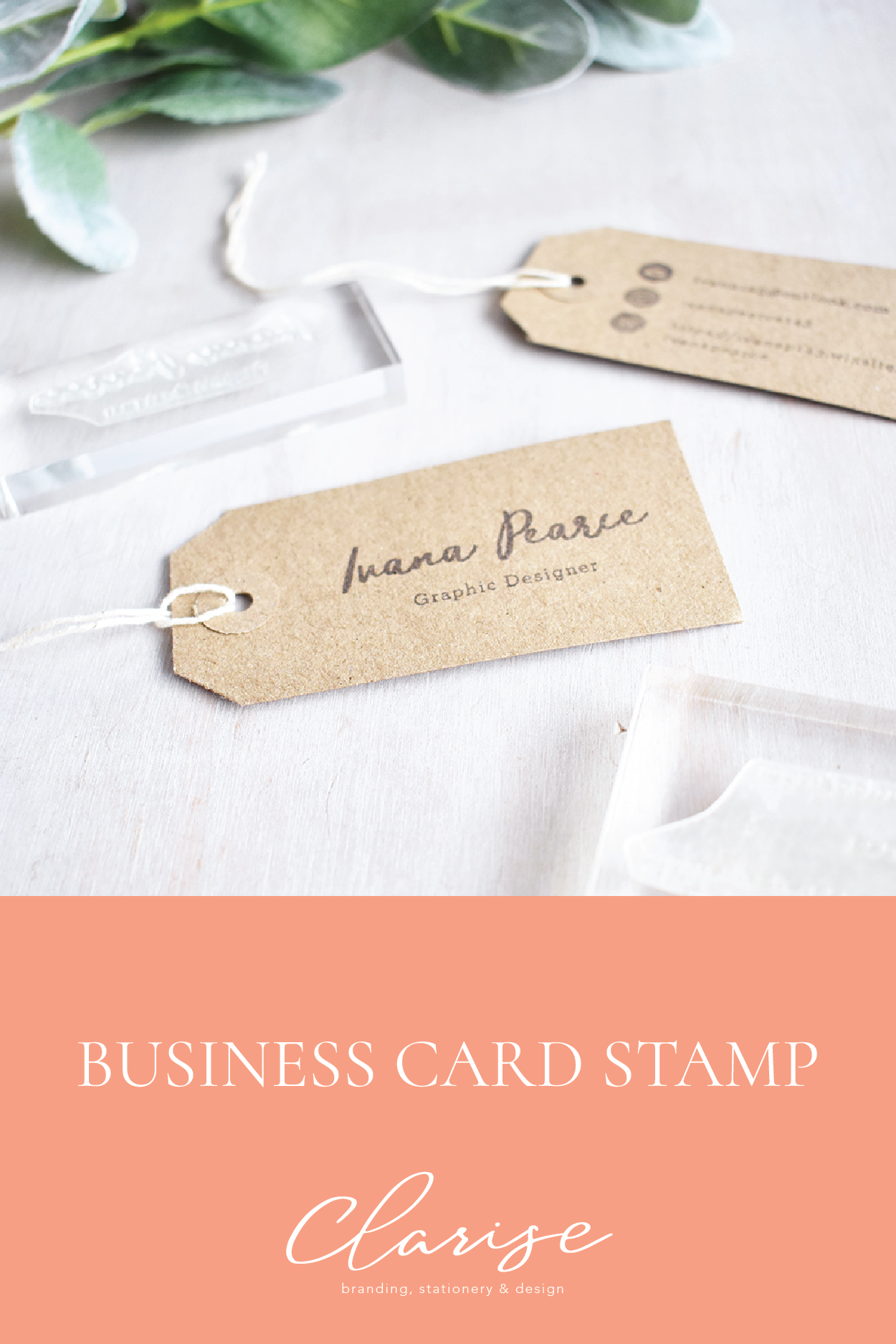 Custom Double Business Card Stamp Set | Stamps