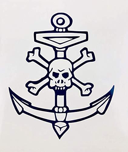 Anchor, Skull And Cross Bones, Black, Vinyl