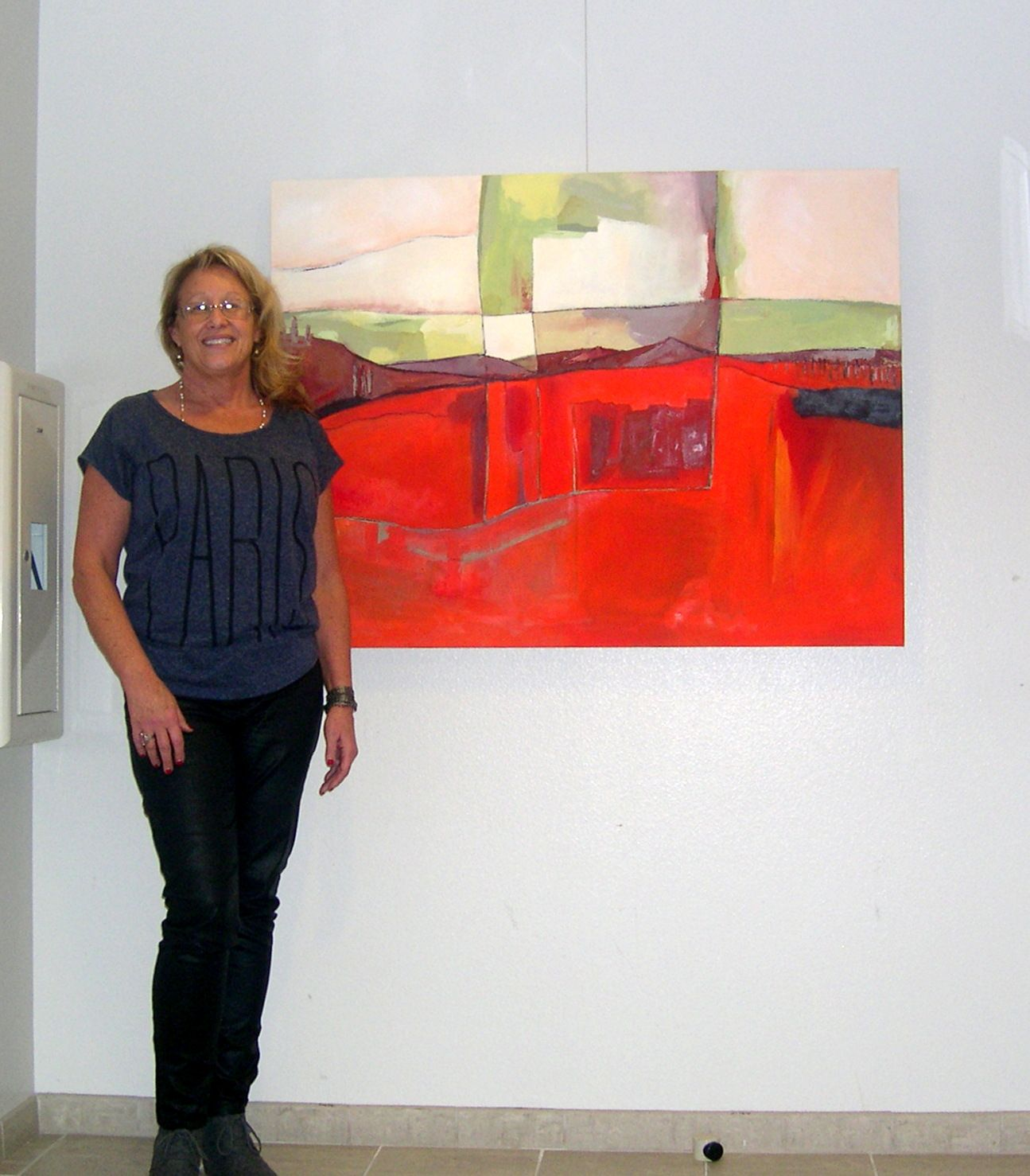 Solo exhibit features abstract art by California artist Danielle Nelisse at Encinitas City Hall Art Gallery in California. Follow along on facebook fan page at www.facebook.com/daniellenelisseartist