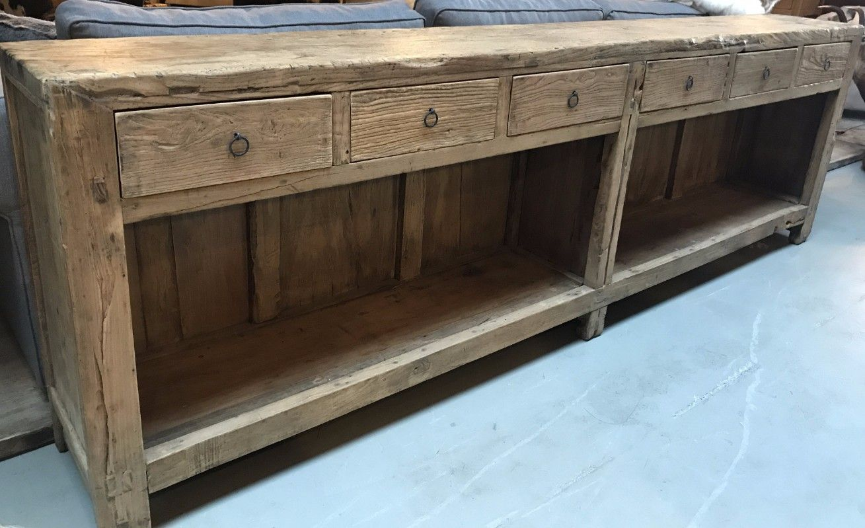 Landelijk Wonen Meubels : Groot dressoir gemaakt van elmhout houten meubels te koop