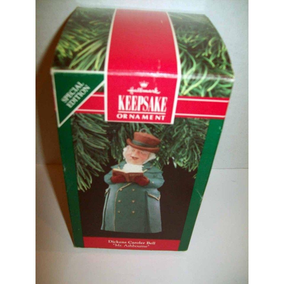1990 Hallmark Dickens Caroler Bell Mr Ashbourne Ornament