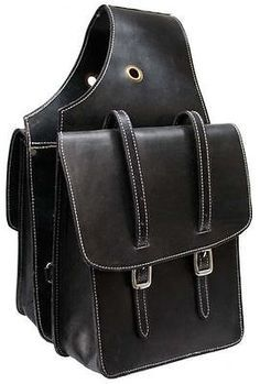 Image Result For Genuine Black Leather Small Throw Over Western Style Saddlebags