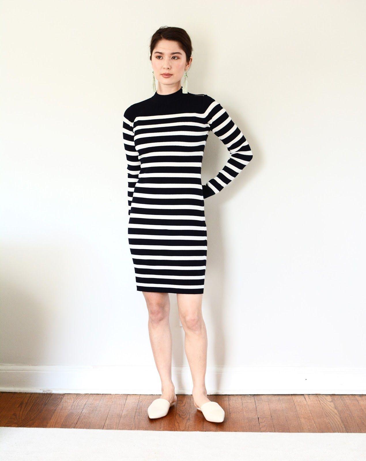 Everlane Breton Ribbed Cotton Sweater Dress Review Petite ...