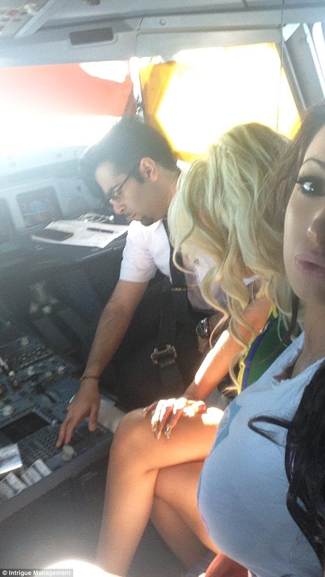 Pornstar in a airline