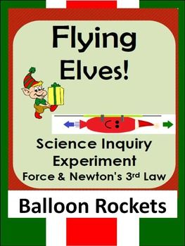 Christmas Science Inquiry Stem Force Experiment Newton S 3rd Law Balloon Rockets Science Inquiry Christmas Science Science Teaching Resources