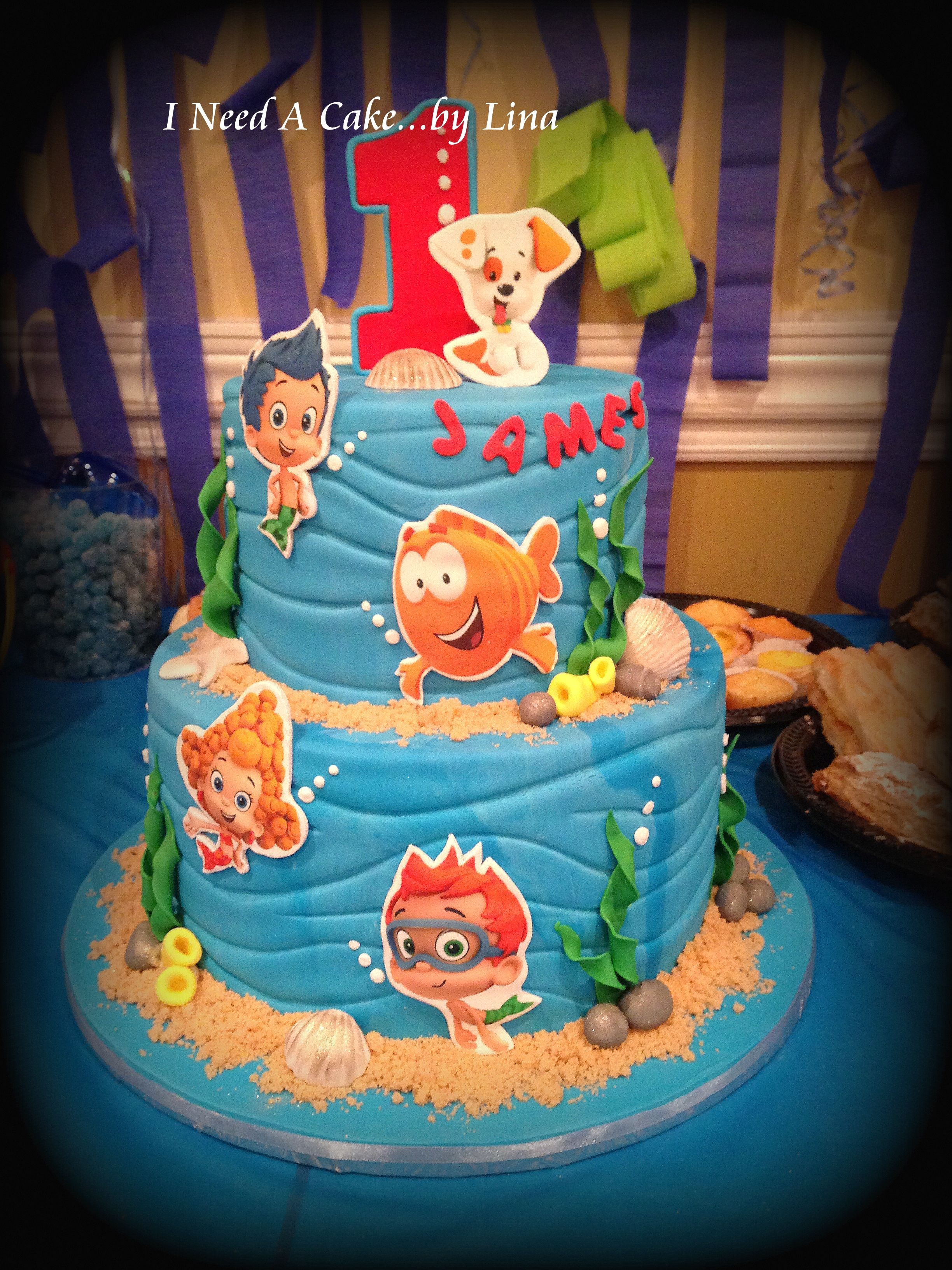 Bubble Guppies First Birthday Cake